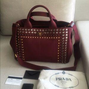 Prada Crystal Denim Handbag